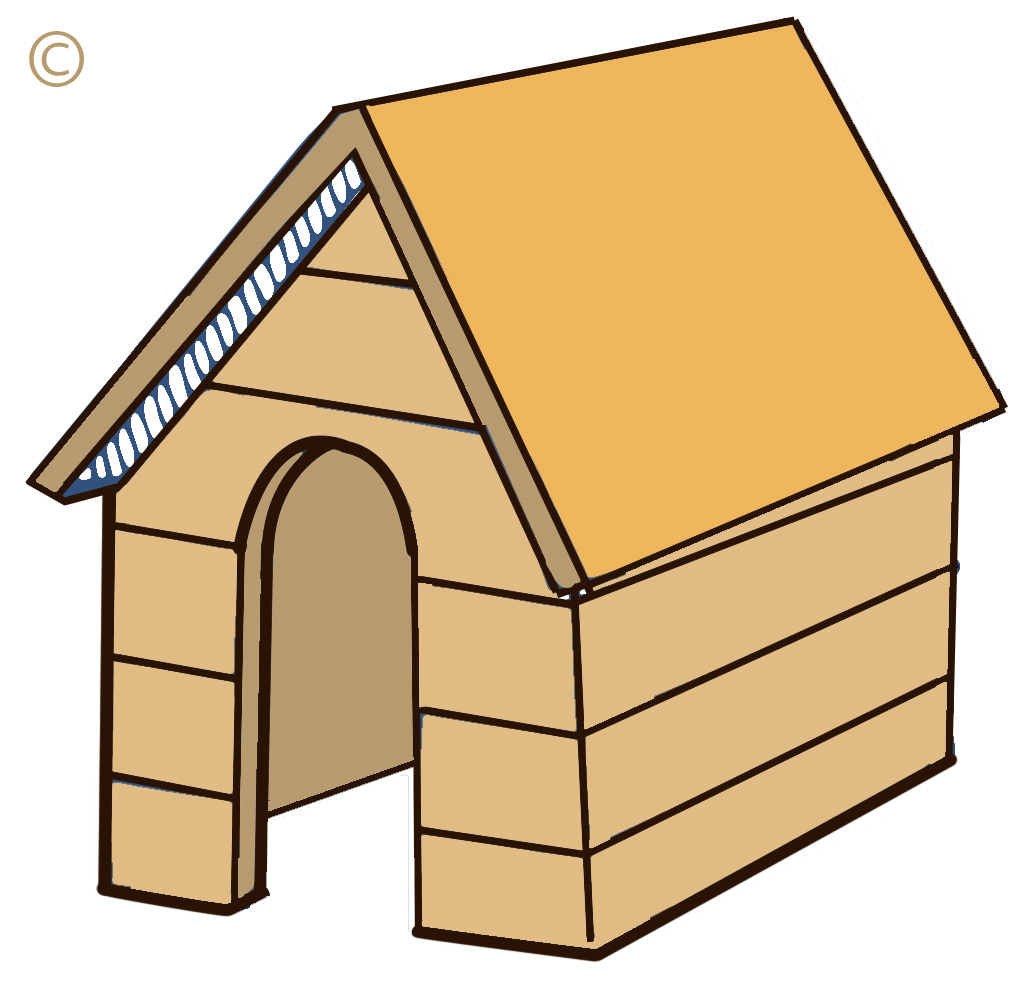 Dog house cat clipart.