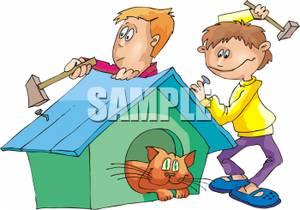 Building Cat House.