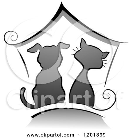 Cat house fancy clipart.
