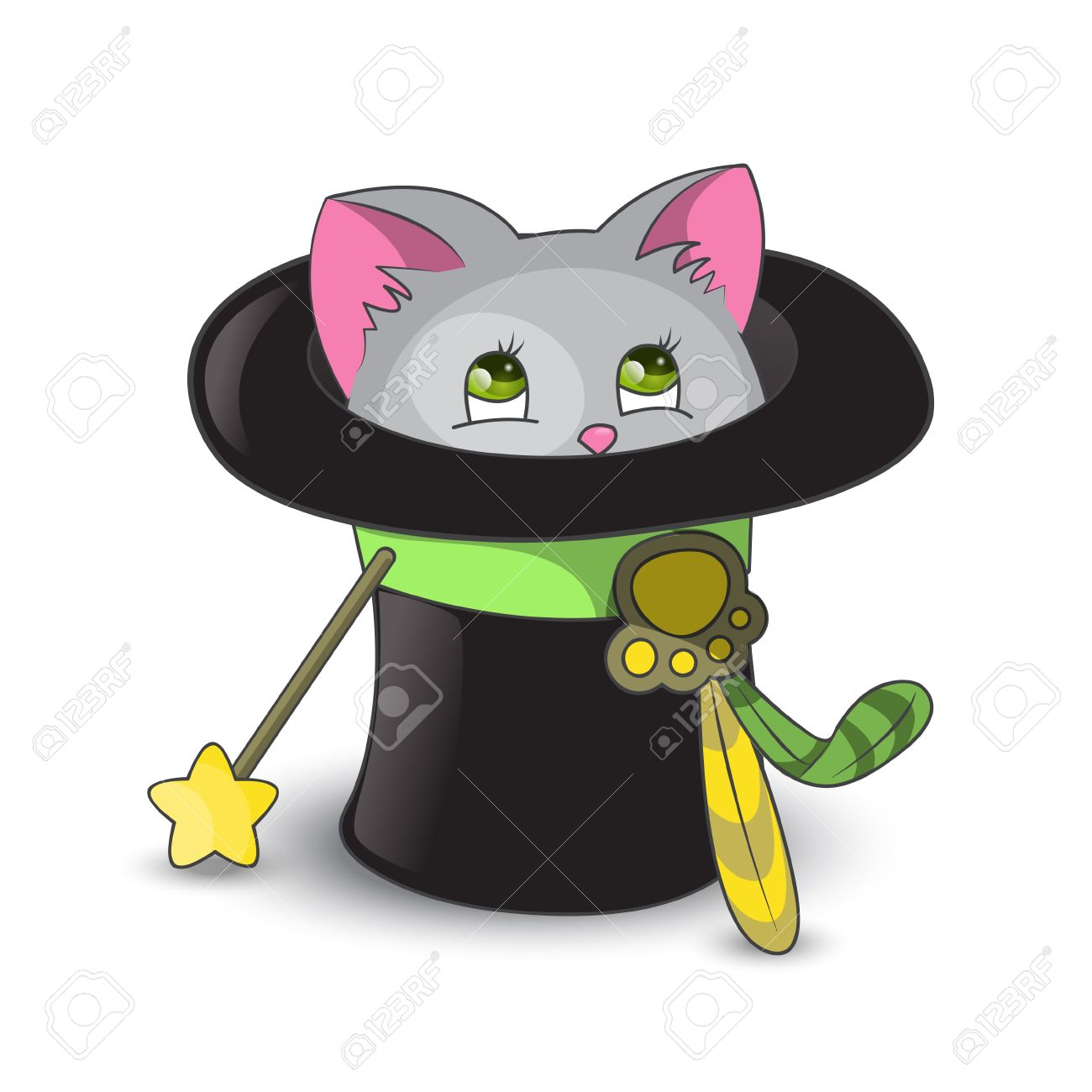 A Cat In A Hat Clipart.