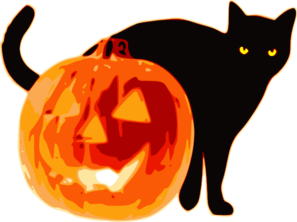 Halloween Cat With Pumpkin Clip Art at Clker.com.