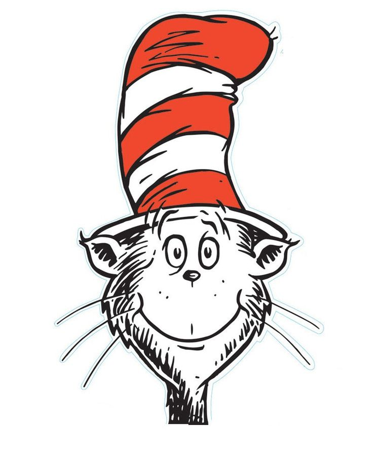 Cat In The Hat Clipart Face.