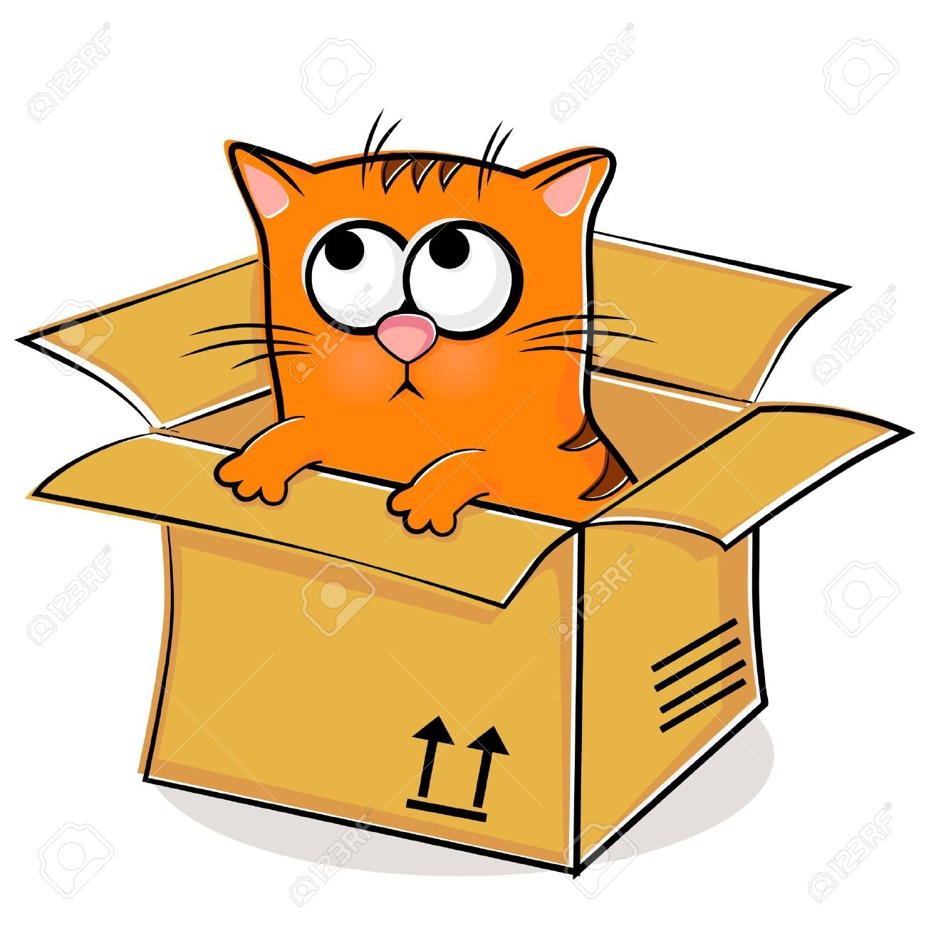 Cat In A Box Clipart.