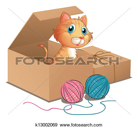 Cat box Clip Art Illustrations. 1,238 cat box clipart EPS vector.