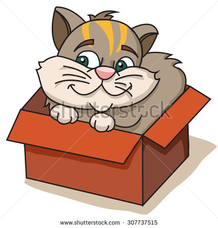 Illustration Nice Puppy Box Stock Vector 80816440.