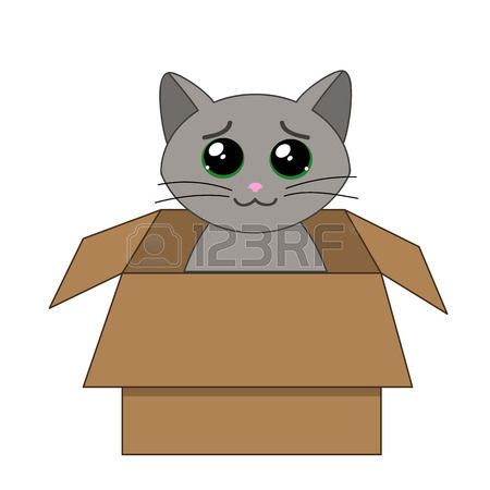 2,637 Cat Box Stock Vector Illustration And Royalty Free Cat Box.
