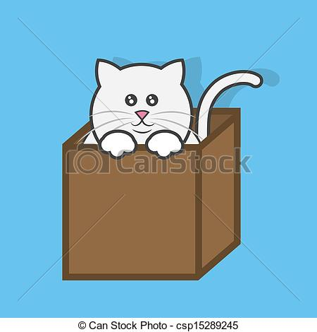 Cat In The Box Clipart.