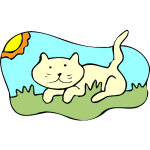 Cat on Grass clipart, cliparts of Cat on Grass free download (wmf.