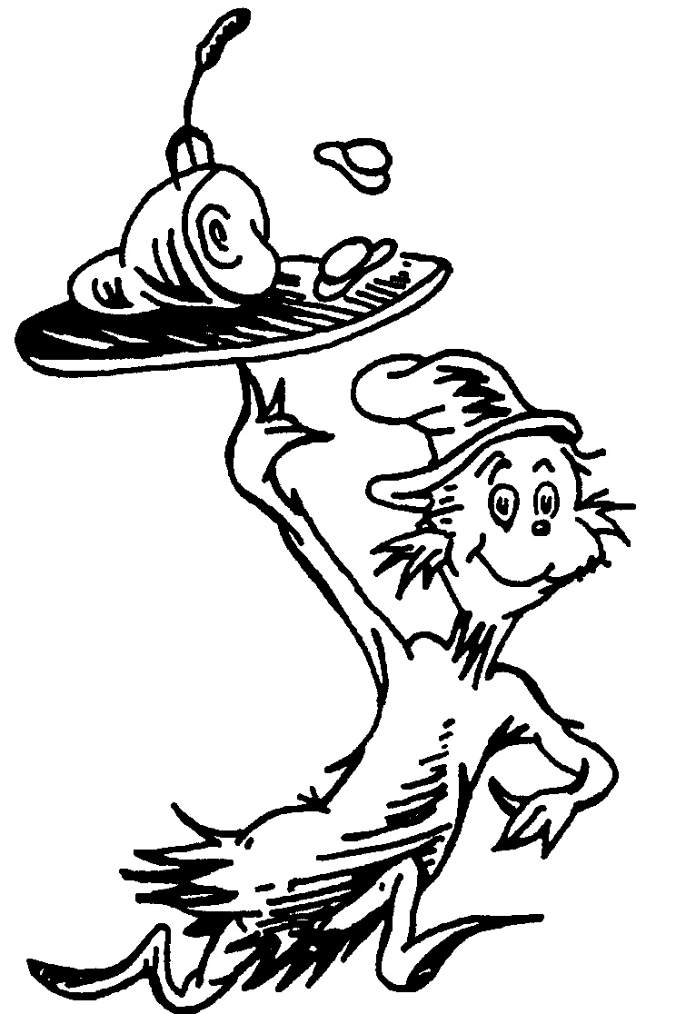 Cat in the hat black and white clipart 5 » Clipart Station.