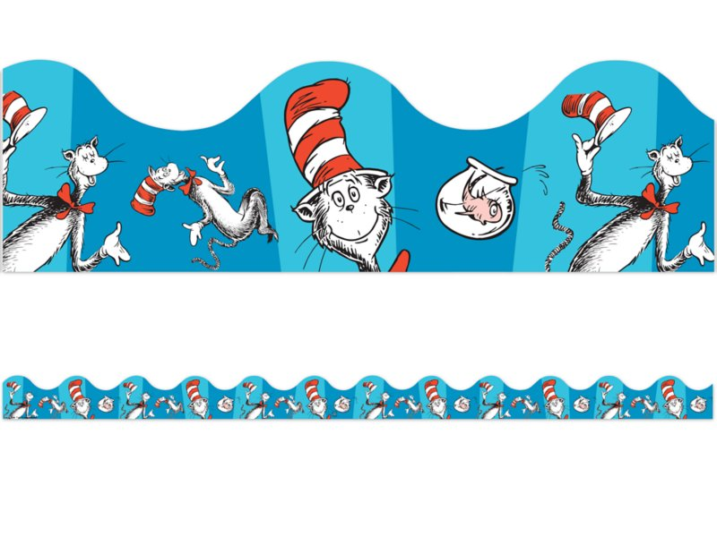 Cat in the Hat Scalloped Border.