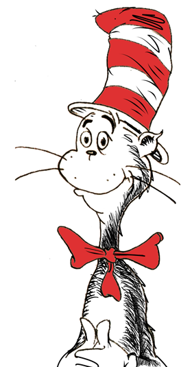 Cat in the hat clipart kid 5.