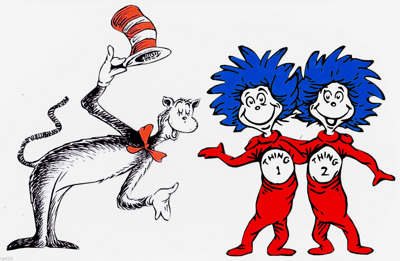 cat in the hat clipart outline Clipground