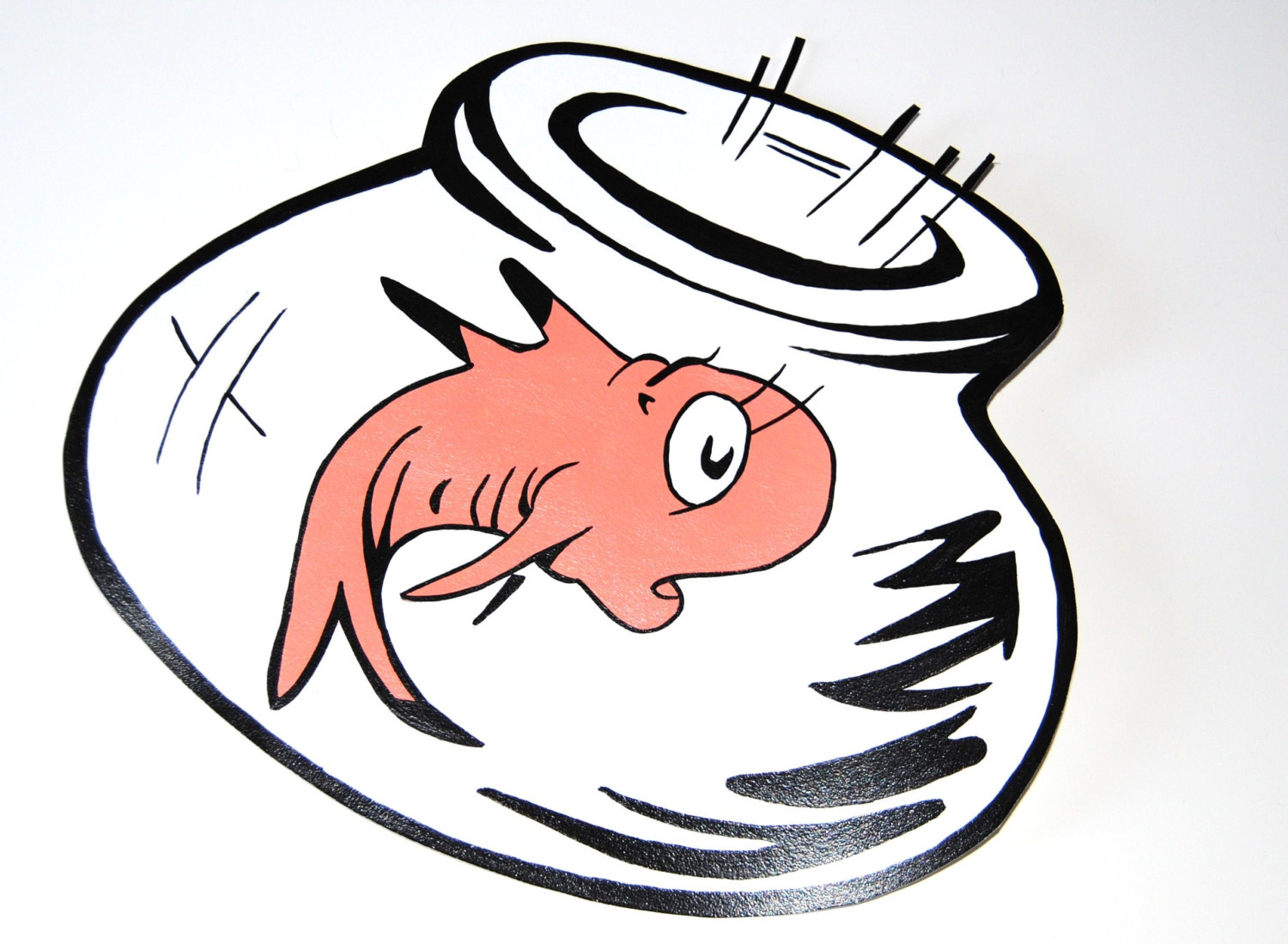 Cat In The Hat Fish Clipart.
