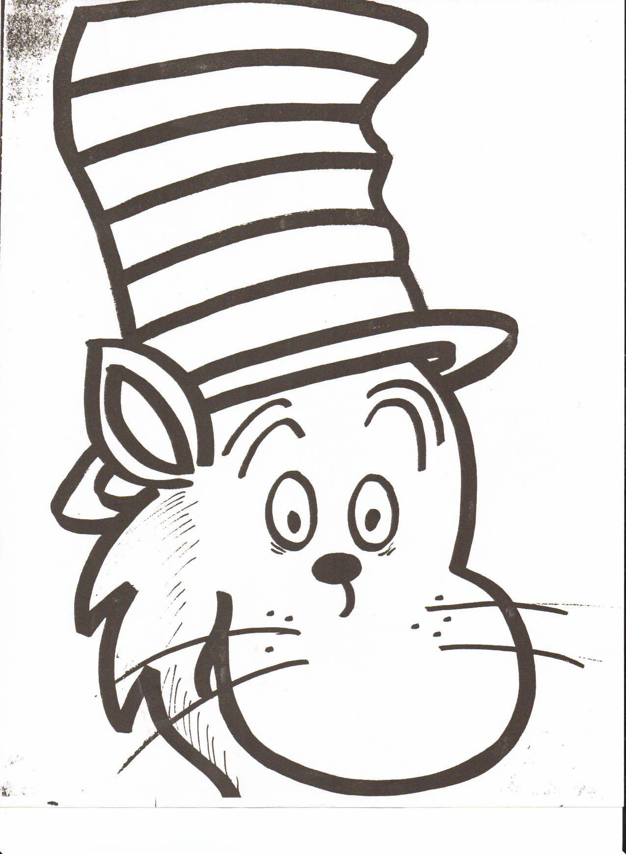 Very Attractive Cat In The Hat Face Printable Dr Seuss Head.
