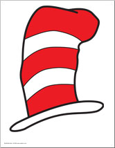 Cat In The Hat Hat Clipart.
