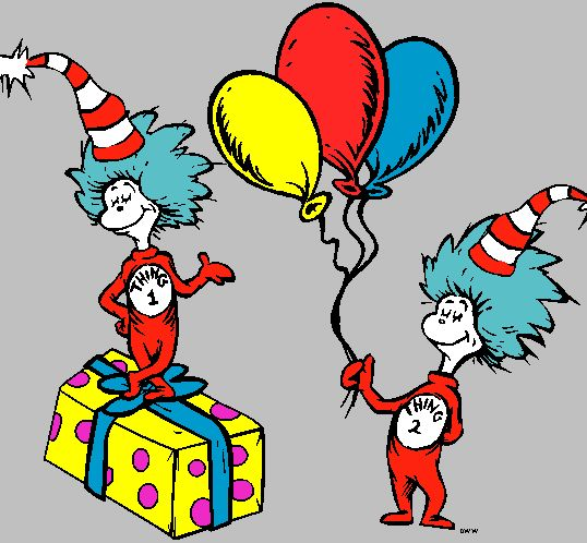 Cat in the hat thing 1 and 2 printable clip art clipart.