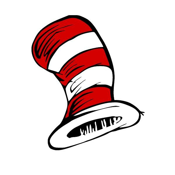 Cat in the hat with no hat clipart.