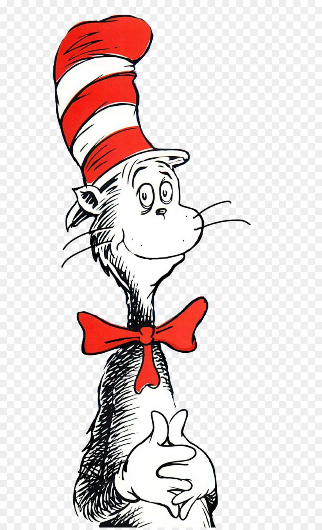 The Cat In Hat Vector Art.