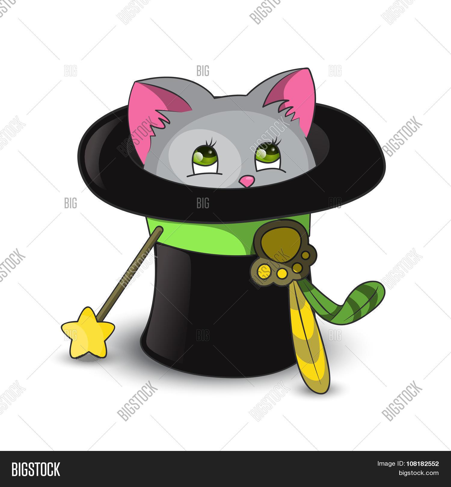 Magic Cat Hat Vector & Photo (Free Trial).