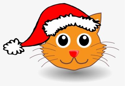 Christmas Cat Clip Art, HD Png Download , Transparent Png.