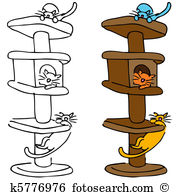 Cat tree Clipart Vector Graphics. 3,714 cat tree EPS clip art.