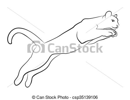 Sketch of jumping cat..