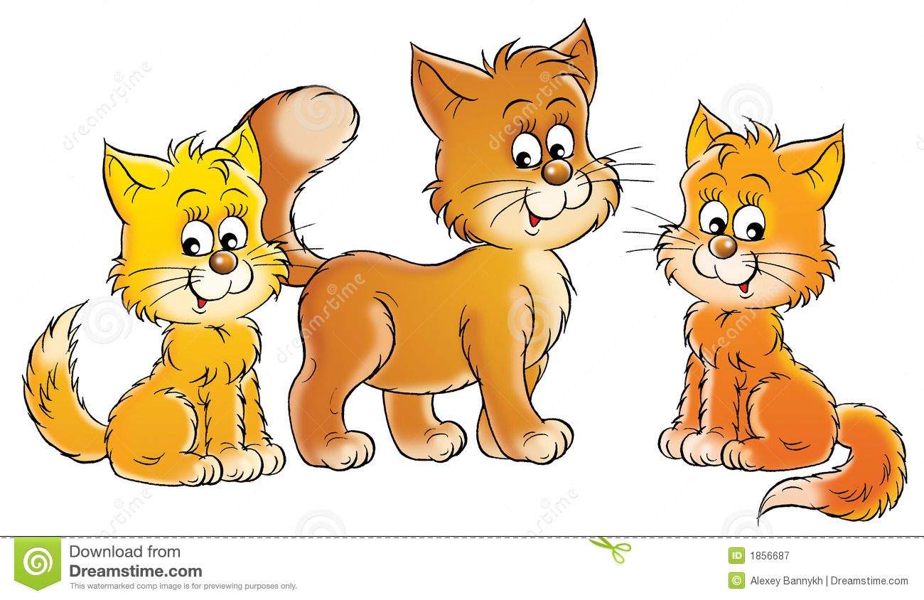 Cats And Kittens Clipart.