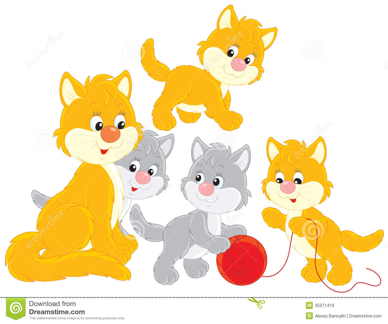 Kittens Clip Art Stock Photos, Images, & Pictures.