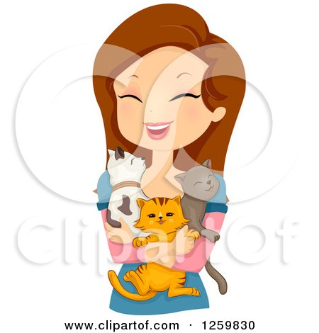Cat Lady Clip Art.