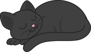 Black cat laying down clipart 2 » Clipart Station.