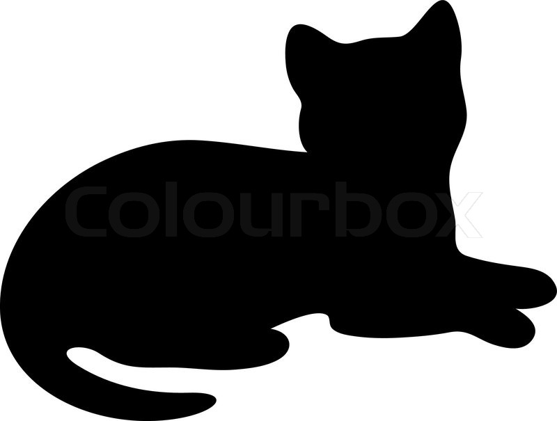 Black cat laying down clipart 1 » Clipart Station.