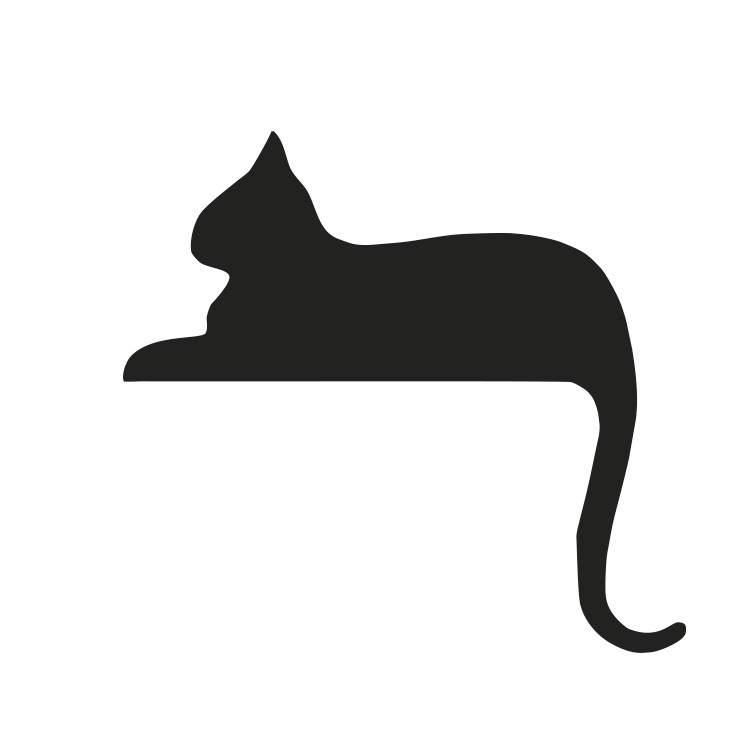 Black cat laying down clipart 5 » Clipart Station.