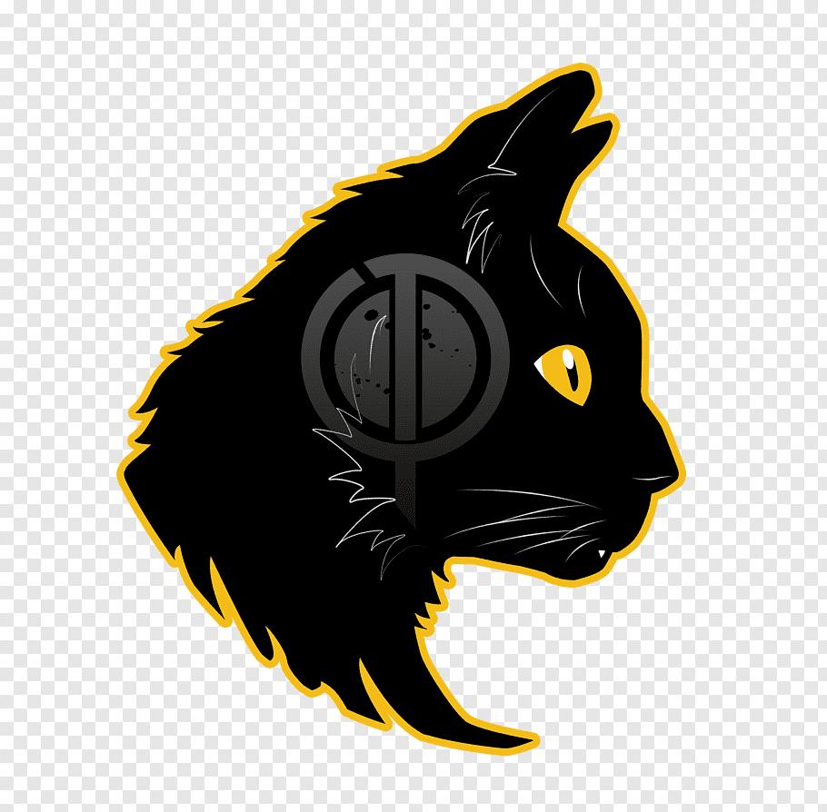 Black cat logo, Pratt Institute Logo Mascot, mascot free png.