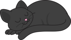 Cat Lying Down Clipart.