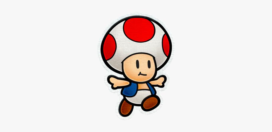 Super Mario Clipart Toad Mario.