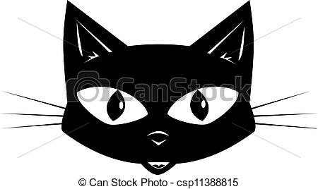 Vector Clip Art of The black cat.