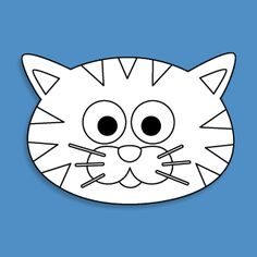 cat face clipart.