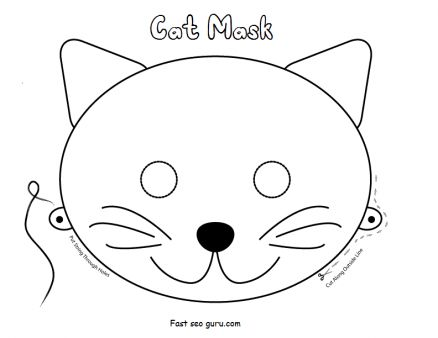 caterpillar mask template - cat mask clipart clipground
