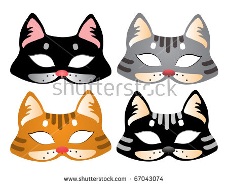 Cat Mask Stock Images, Royalty.
