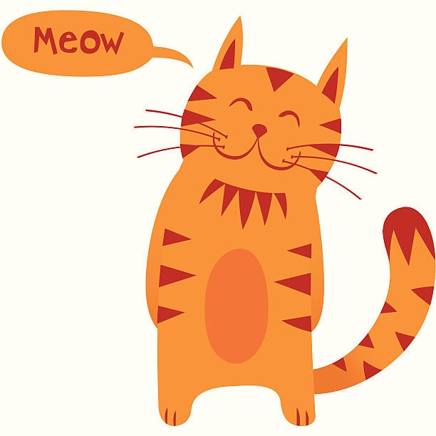 Best Cat Meow Illustrations, Royalty.