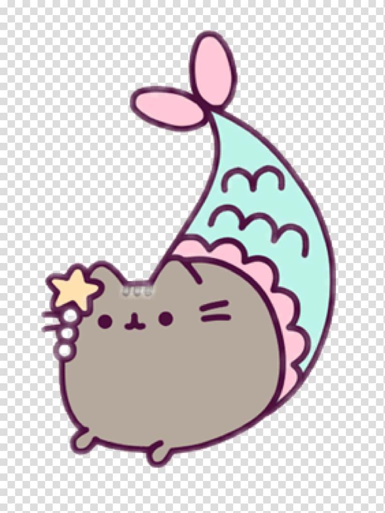 Brown cat emoji illustration, Pusheen Coloring Book Cat.