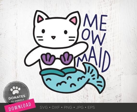 Cat Mermaid SVG.