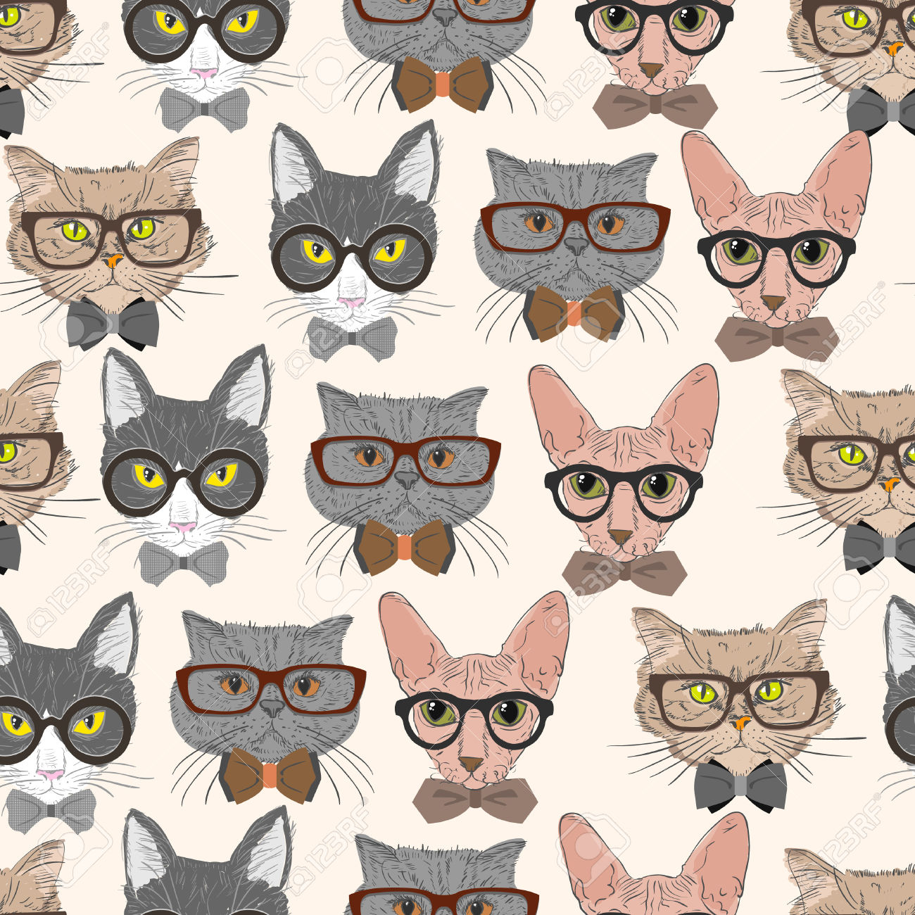 Hipster cat clipart tumblr.