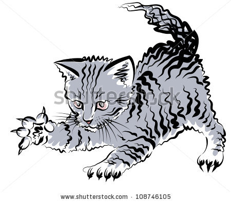 Cat claws clipart.