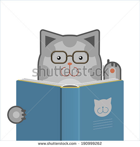 Cat Book Stock Images, Royalty.