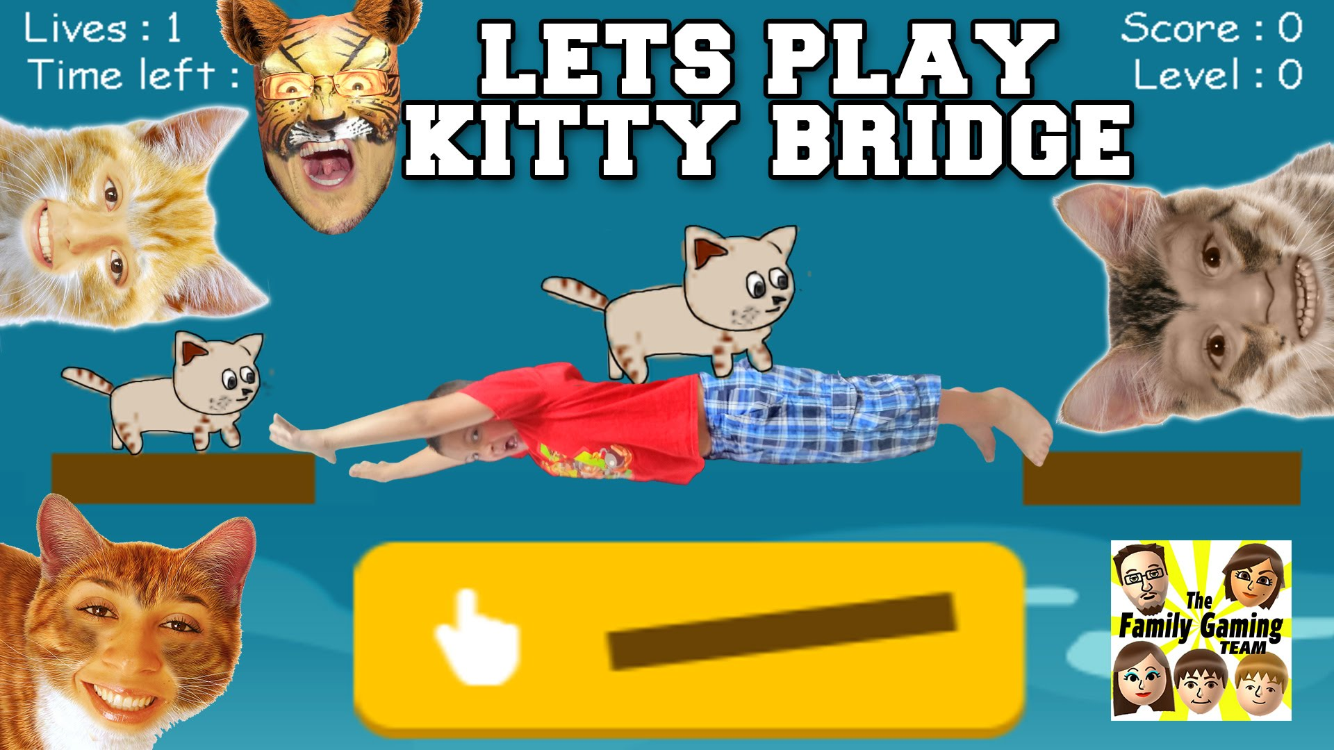 LETS PLAY KITTY BRIDGE! Cat Construction Feline Fun ! (FGTEEV.