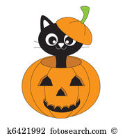 Cat pumpkin Clip Art and Illustration. 4,540 cat pumpkin clipart.