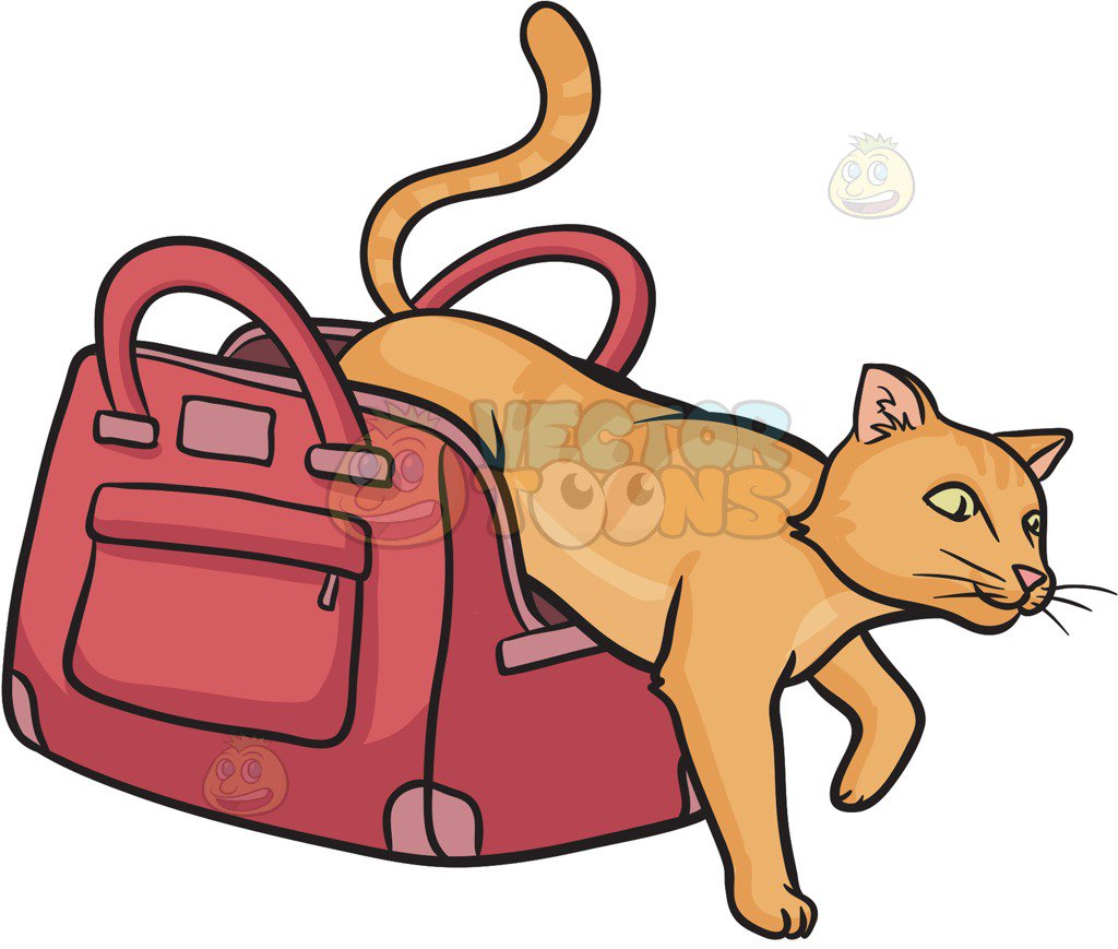 Let The Cat Out Of The Bag Clipart.
