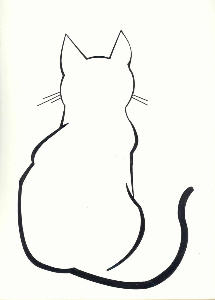Cat Silhouette Outline.
