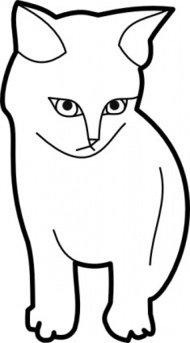 Cat Outline Clip Art Download 1,000 clip arts (Page 1.
